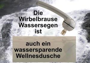 Wassersparende Wellnessdusche