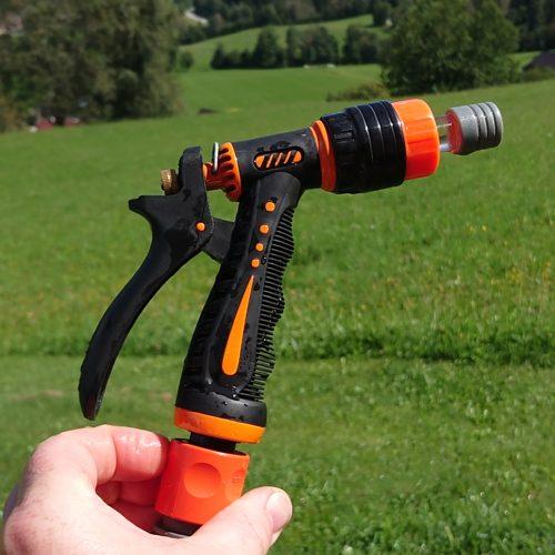 Gartensegen Spühpistole Orange-Schwarz